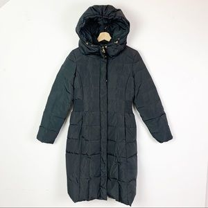 COLE HAAN Signature Puffy Long Down Coat Hooded S